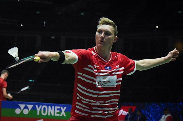Viktor Axelsen was in unforgiving form at the Thomas Cup, helping Denmark triumph over Algeria 5-0 (AFP Photo/Lillian SUWANRUMPHA)