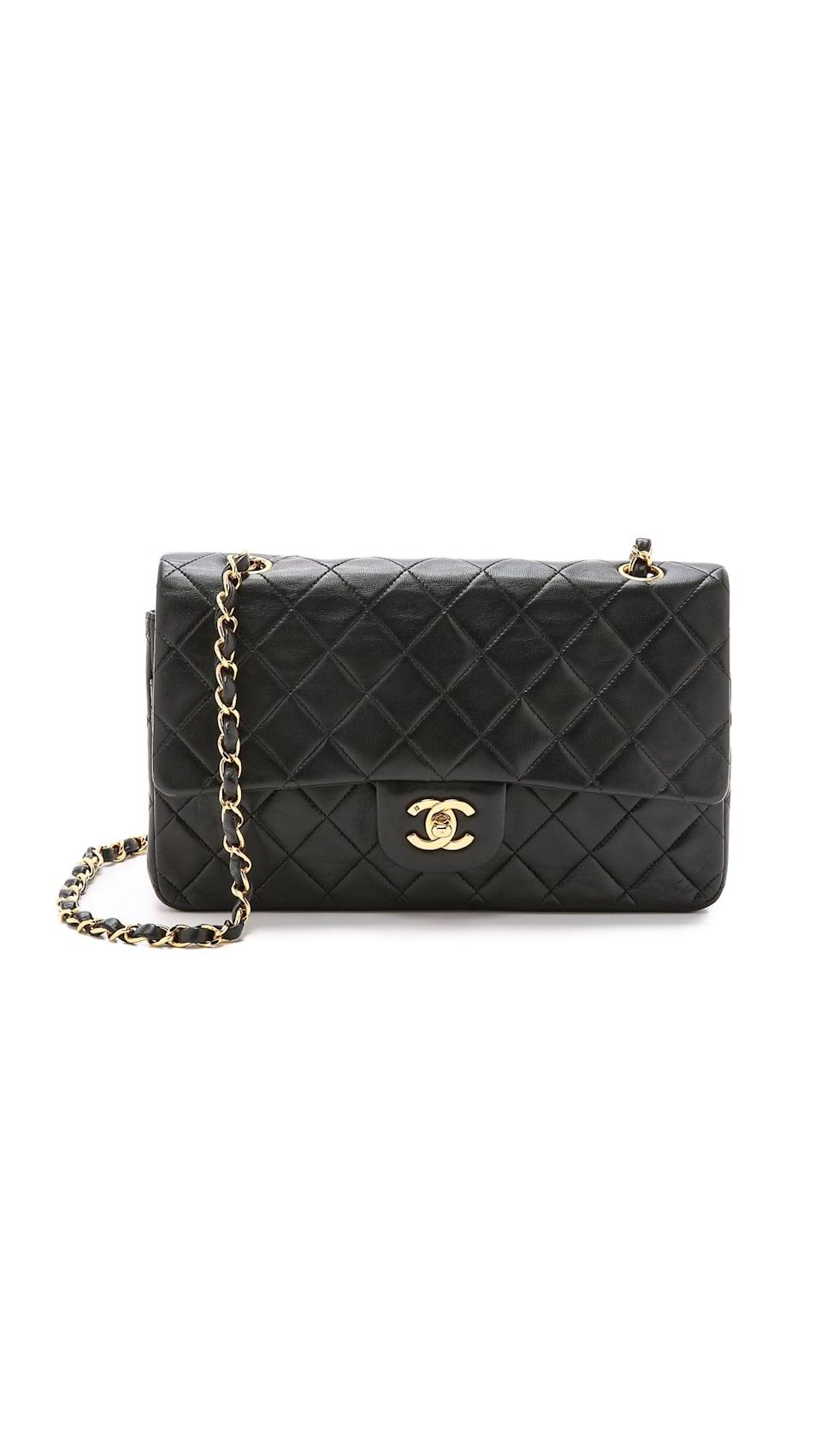 """<p>It's a classic for a reason. The <span>Chanel 10"""" Shoulder Bag</span> ($5,600) is at the top of every fashion girl's wish list. And while it's definitely pricey, these bags only appreciate in value. Consider this your prettiest investment. </p>"""