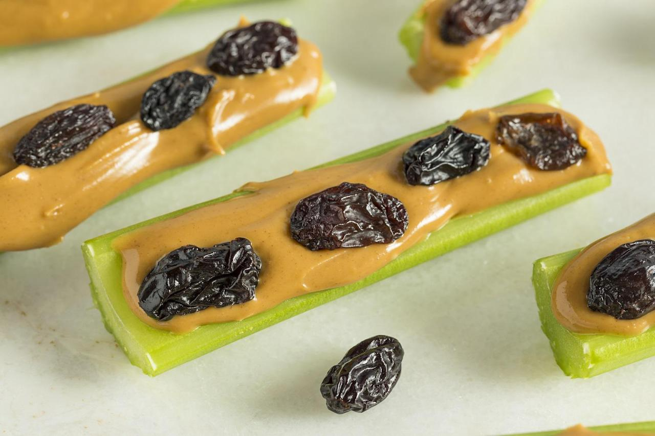 """<p>Ants on a log fall somewhere between snack and dessert, but this healthy, delicious treat is among those <a href=""""https://www.thedailymeal.com/cook/deviled-eggs-retro-appetizers-recipes?referrer=yahoo&category=beauty_food&include_utm=1&utm_medium=referral&utm_source=yahoo&utm_campaign=feed"""">vintage dishes that needs to come back</a>.</p> <p><a href=""""https://www.thedailymeal.com/best-recipes/ants-on-log-recipe-celery-peanut-butter-snack?referrer=yahoo&category=beauty_food&include_utm=1&utm_medium=referral&utm_source=yahoo&utm_campaign=feed"""">For theAnts on a Log recipe, click here.</a></p>"""
