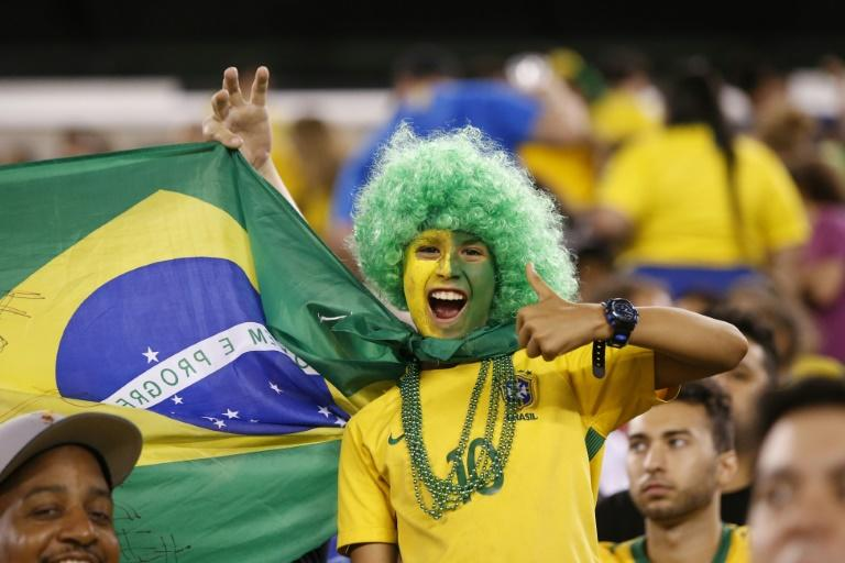 Brazil supporters go wild at a friendly with the United States September 7 2018
