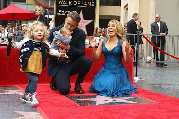 <p>It's unclear if James and Ines Reynolds knew it was a big day for their father, who officially got a star on the Walk of Fame in 2016. But if they didn't know it then, they sure will know it in the future!</p>