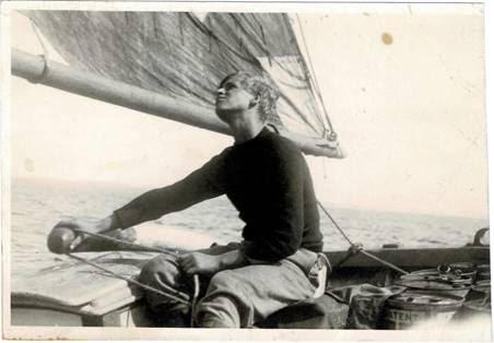 The duke to be as a teenager on a boat which belonged to his school, Gordonstoun. (Major B Varvill R.A.M.C)
