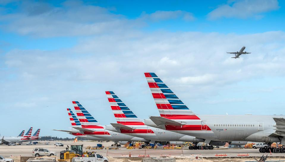 America Airlines planes waiting for passengers at Miami International Airport November 2020 (Getty Images)