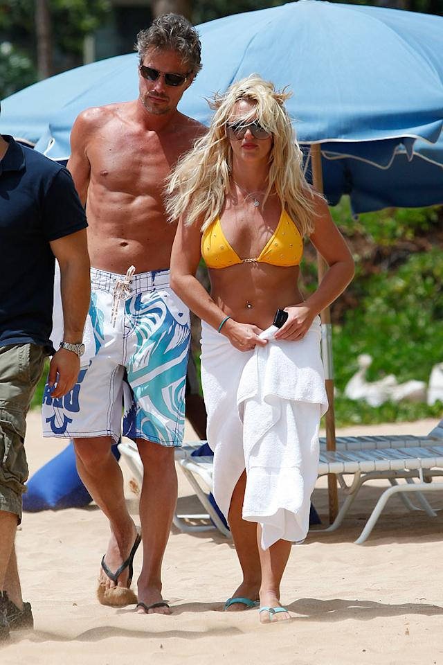 "Britney Spears and her honey, Jason Trawick, were spotted in Hawaii having some fun in the sun. Derek Shook/<a href=""http://www.splashnewsonline.com/"" target=""new"">Splash News</a> - August 24, 2010"