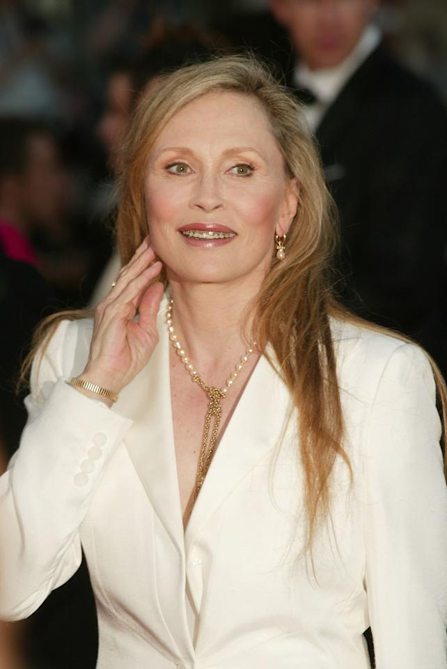 Faye Dunaway, age 61, at screening of the <em>The Pianist</em> during the 55th Cannes Film Festival in Cannes, France, May 2002.