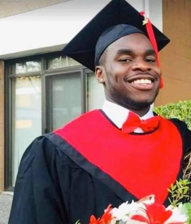 Samwel Uko at graduation. His family says he died by committing suicide.    (Samwel Uko/Facebook - image credit)