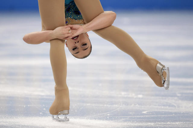 Gabrielle Daleman of Canada competes in the women's free skate figure skating finals at the Iceberg Skating Palace during the 2014 Winter Olympics, Thursday, Feb. 20, 2014, in Sochi, Russia. (AP Photo/Bernat Armangue)