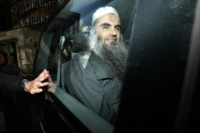Abu Qatada is driven away after being refused bail at a hearing at London's Special Immigration Appeals Commission, which handles deportation and security cases, in London, Tuesday, April 17, 2012.  New pledges from Jordan to offer a fair trial to the radical Islamist cleric should end Britain's lengthy campaign to send the preacher to the Arab country, Home Secretary Theresa May told lawmakers Tuesday.  Since 2001, authorities in Britain have been trying to expel Abu Qatada, a Palestinian-Jordanian preacher described in both Spanish and British courts as a leading al-Qaida figure in Europe.  (AP Photo/Matt Dunham)
