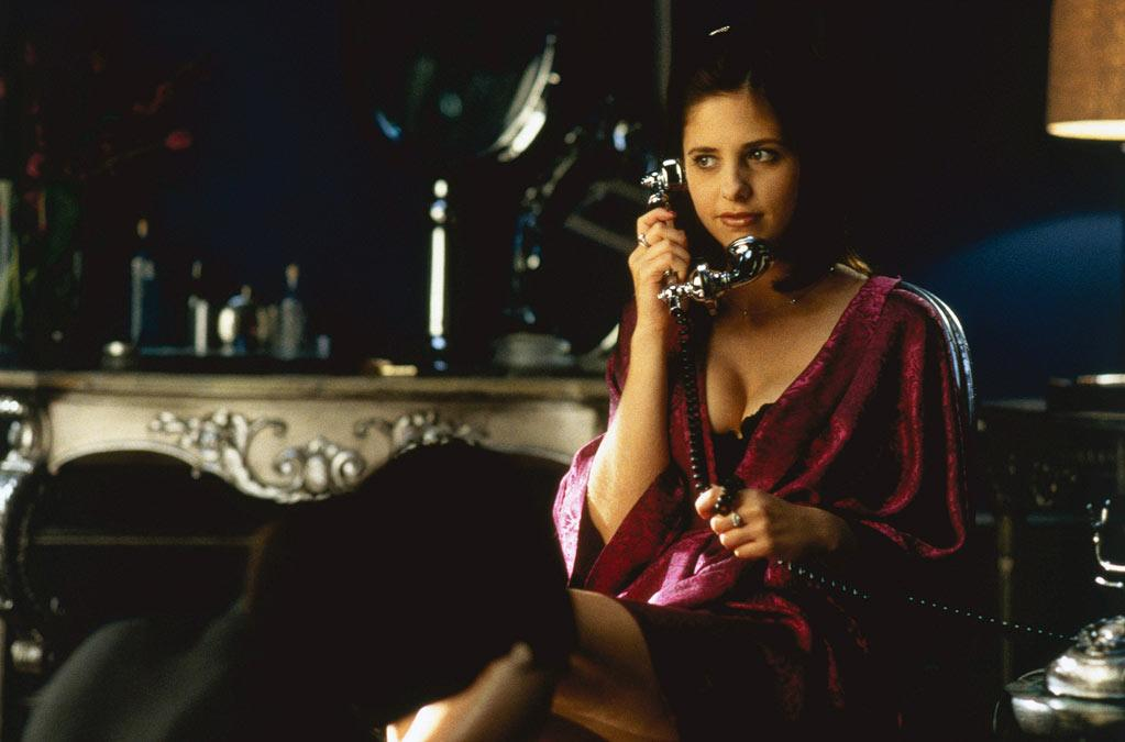 """UP — '<a href=""""http://movies.yahoo.com/movie/1800018810/info"""" target=""""_blank"""" rel=""""nofollow"""">Cruel Intentions</a>' (1999): Sure it was a teen version of """"<a href=""""http://movies.yahoo.com/movie/1800158885/info"""" target=""""_blank"""" rel=""""nofollow"""">Les Liaisons Dangereuses</a>,"""" but Gellar got to show her bad side as the wonderfully manipulative Kathryn. This role alone gives us a lot of hope for her wealthy, scheming """"<a href=""""/ringer/show/47458"""">Ringer</a>"""" character. She even won an MTV Movie Award for the role and for the kiss she shared with Selma Blair."""