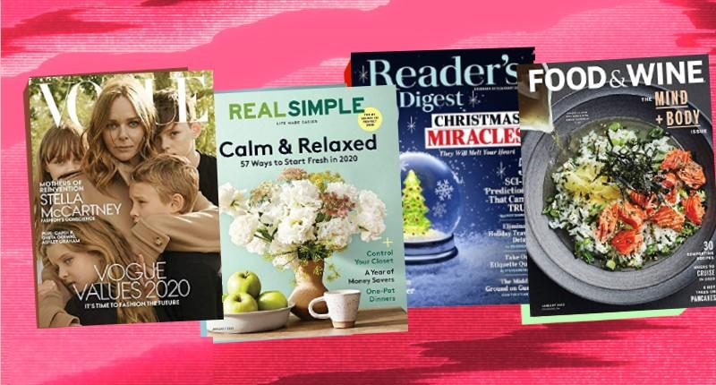 Looking for a last-minute gift? A magazine subscription can be the perfect item to cater to anyone you know. (Photo: Amazon/ Yahoo Lifestyle illustration)