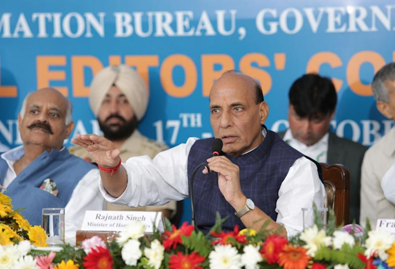 Rajnath Singh appeals to states to ensure safety of Kashmiris saying they are 'equal citizens' of India