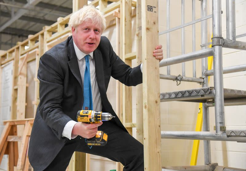 UK short of homegrown lab technicians, other skilled workers, Johnson says