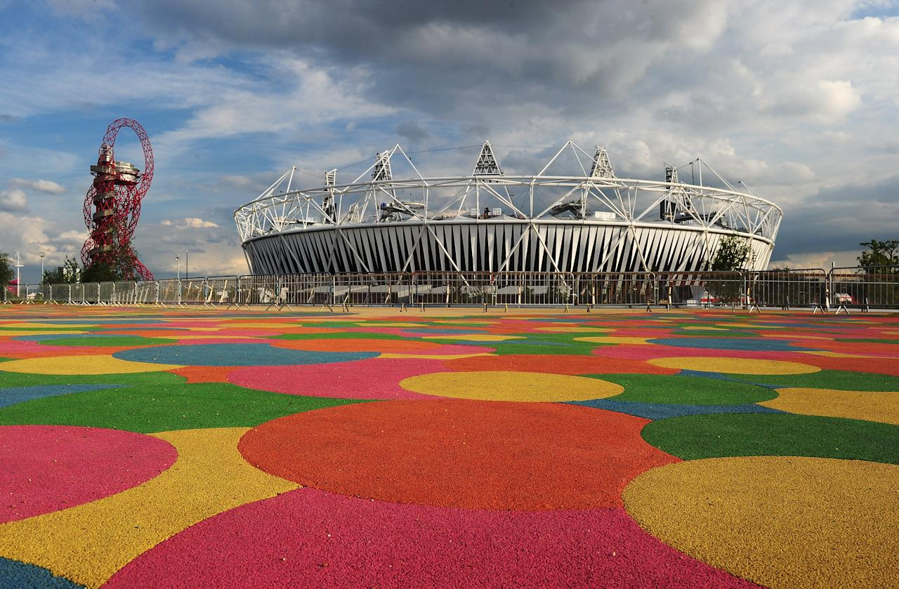 LONDON, ENGLAND - JULY 21:  General view of the Olympic Stadium at the Olympic Park on July 20, 2012 in London, England.  (Photo by Mike Hewitt/Getty Images)