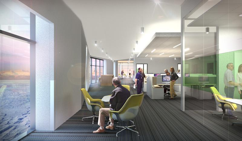 A workspace in the future McMurdo Station by OZ Architecture.