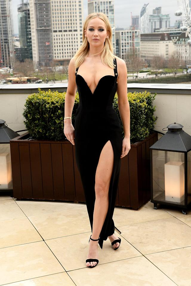 Jennifer Lawrence at the <i>Red Sparrow</i> photo call at the Corinthia Hotel London. (Photo: David M. Benett/Dave Benett/Getty Images)