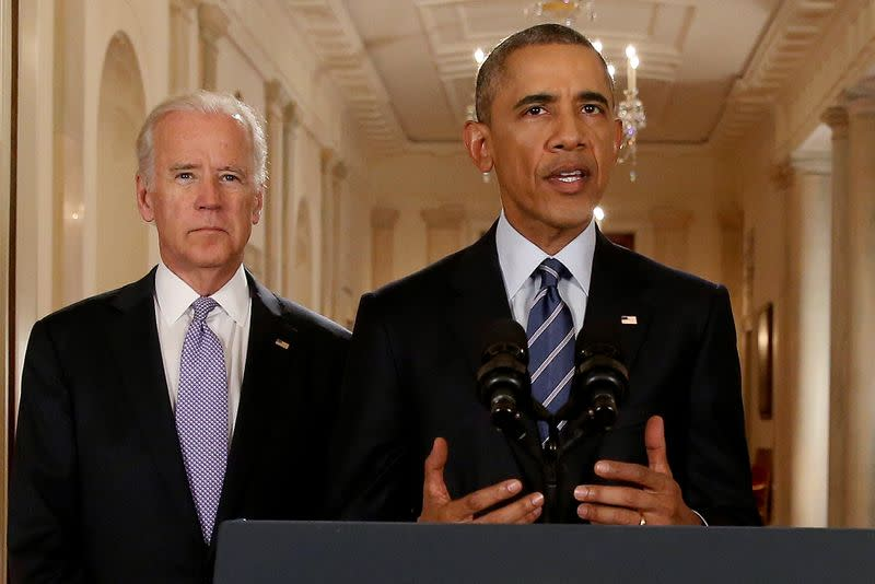 FILE PHOTO: U.S. President Barack Obama speaks about the nuclear deal reached between Iran and six major world powers during statement at the White House in Washington