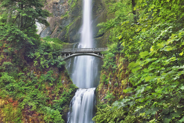 <p>Multnomah Falls at the Columbia River Gorge in Multnomah County, Ore. (Photo: Frank Krahmer/Corbis/Getty Images) </p>