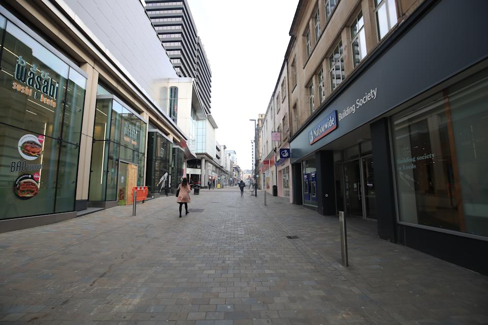 Albion street in Leeds city centre, the day after Prime Minister Boris Johnson put the UK in lockdown to help curb the spread of the coronavirus.