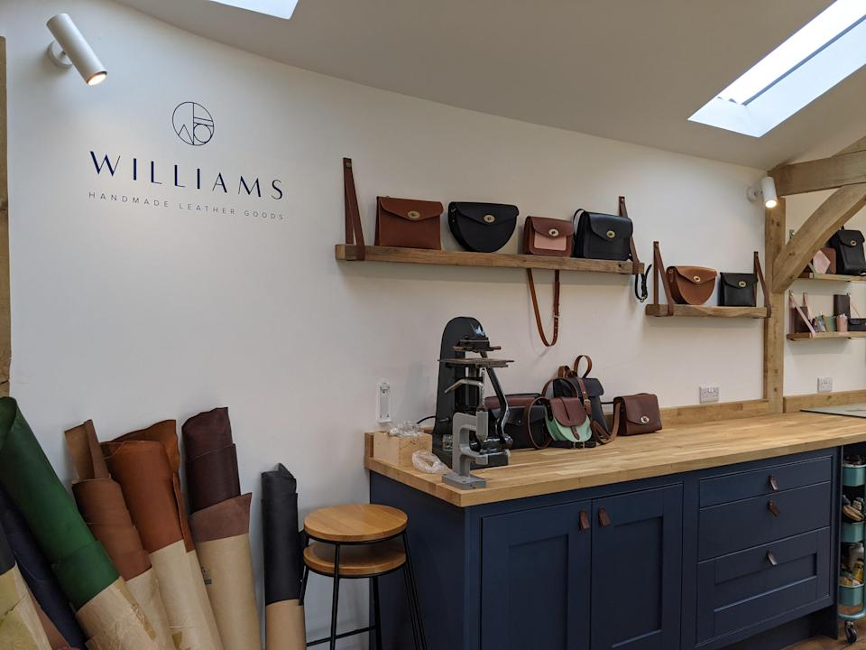 The home studio of leather goods brand Williams Handmade (Qin Xie)