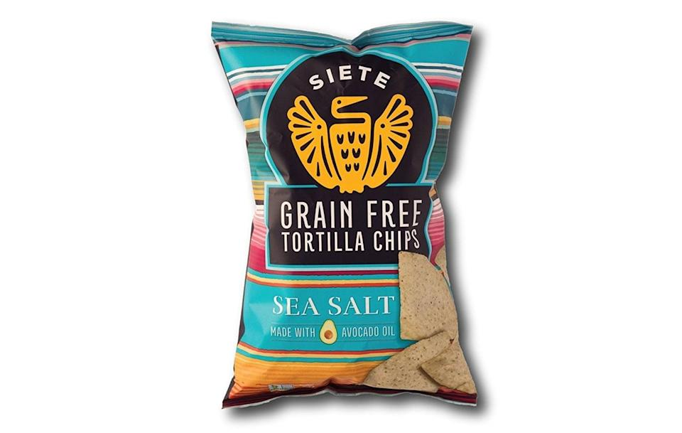 <p>If you've got a penchant for chips and guac, now you can indulge with these <span>Siete Grain Free Tortilla Chips</span> ($34 for a six-pack). They're slightly lighter than a corn- or flour-based version, and they're so salty and delicious. When I put these out at parties, they're gone in minutes, and nobody misses the grains. </p>