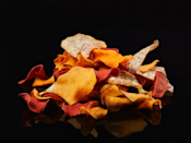 <p>Although these chips are made from vegetables, they are often processed to a degree where many of their important nutrients are lost. Per ounce, they contain about 125 to 160 calories and about 10 to 12 grams of fat. As a healthier alternative, serve cut-up veggies alongside two tablespoons of your kid's favorite dip.</p>