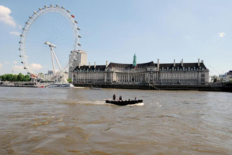 A file photo of the London Eye and River Thames: PA