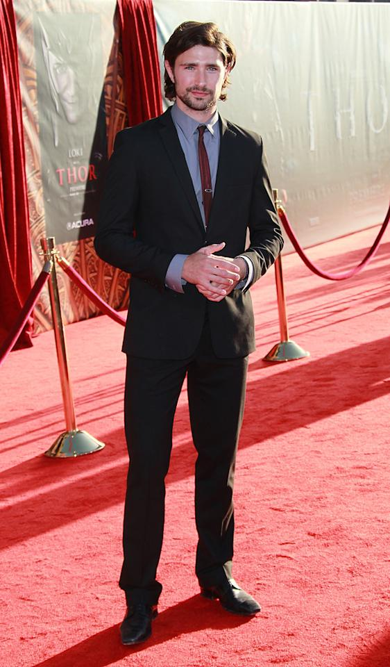 "<a href=""http://movies.yahoo.com/movie/contributor/1809769058"">Matt Dallas</a> attends the Los Angeles premiere of <a href=""http://movies.yahoo.com/movie/1810026342/info"">Thor</a> on May 2, 2011."