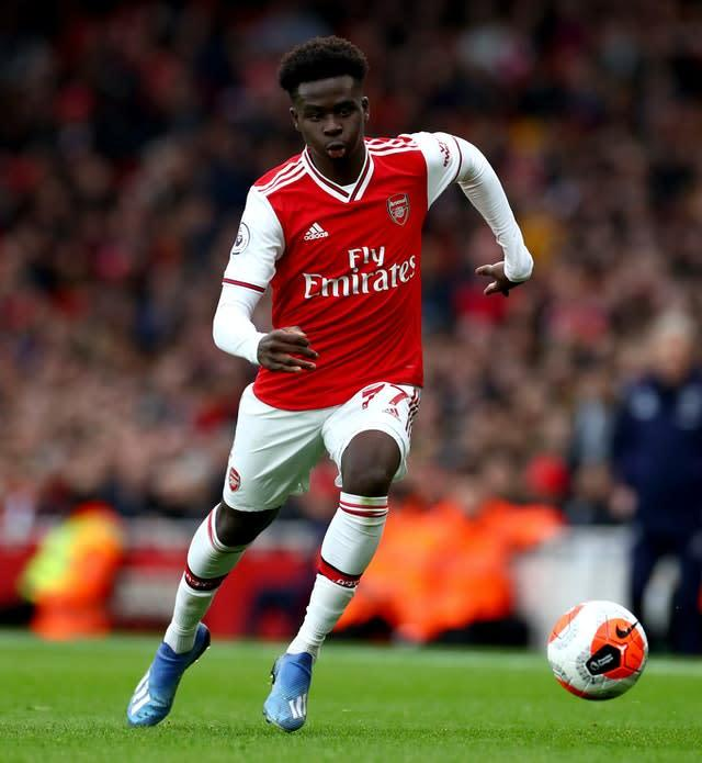 Arsenal's Bukayo Saka has reportedly caught the attention of Liverpool's bosses (Bradley Collyer/PA)