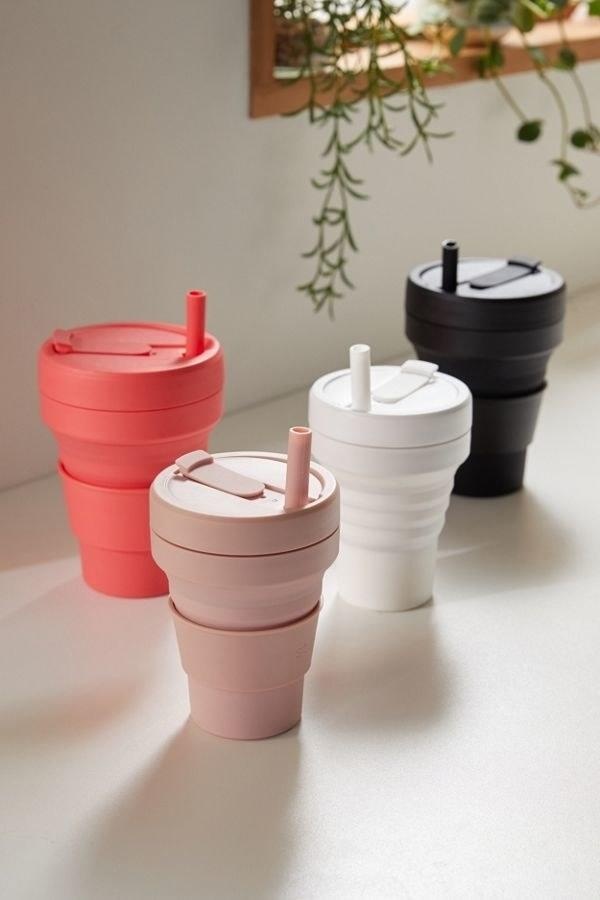 """$25, Urban Outfitters. <a href=""""https://www.urbanoutfitters.com/shop/stojo-24-oz-collapsible-coffee-cup?category=SEARCHRESULTS&color=062"""" rel=""""nofollow noopener"""" target=""""_blank"""" data-ylk=""""slk:Get it now!"""" class=""""link rapid-noclick-resp"""">Get it now!</a>"""