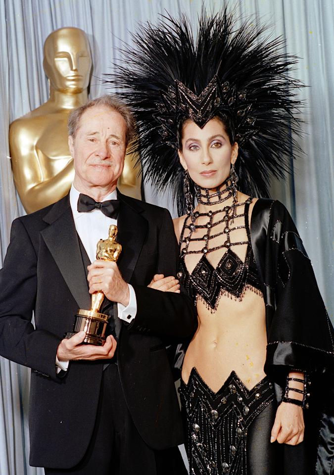 No mention of cutout gowns is complete without a mention of Cher, the original who wore a barely-there Bob Mackie creation at the 1986 Oscars.
