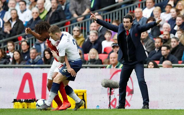 Unai Emery set Arsenal up to counter-attack Spurs and it very nearly paid off at Wembley - REUTERS