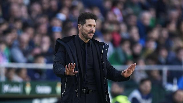 Atletico Madrid are still in the title race despite suffering a rare LaLiga defeat to Real Betis on Sunday, says Diego Simeone.