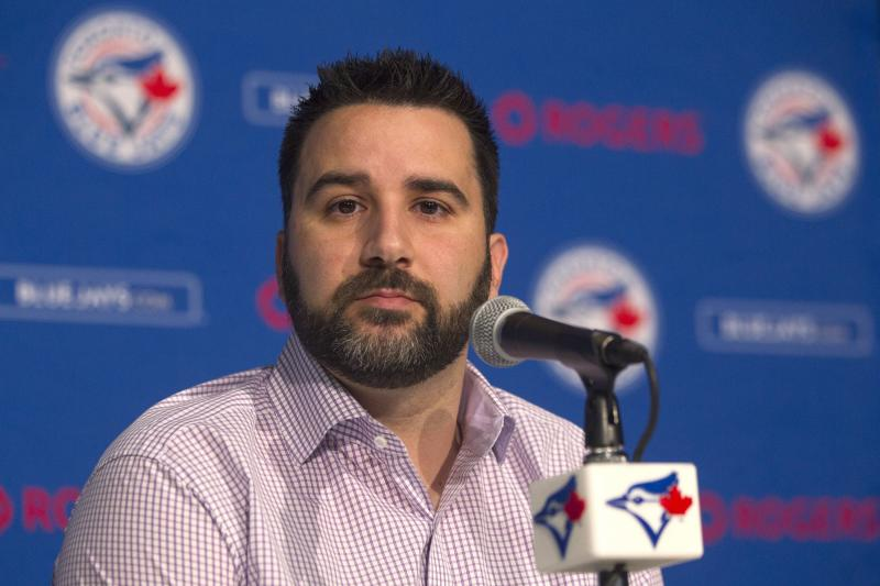 Alex Anthopoulos, shown in 2015 as Blue Jays GM, will reportedly get the same post with the Braves. (The Canadian Press)