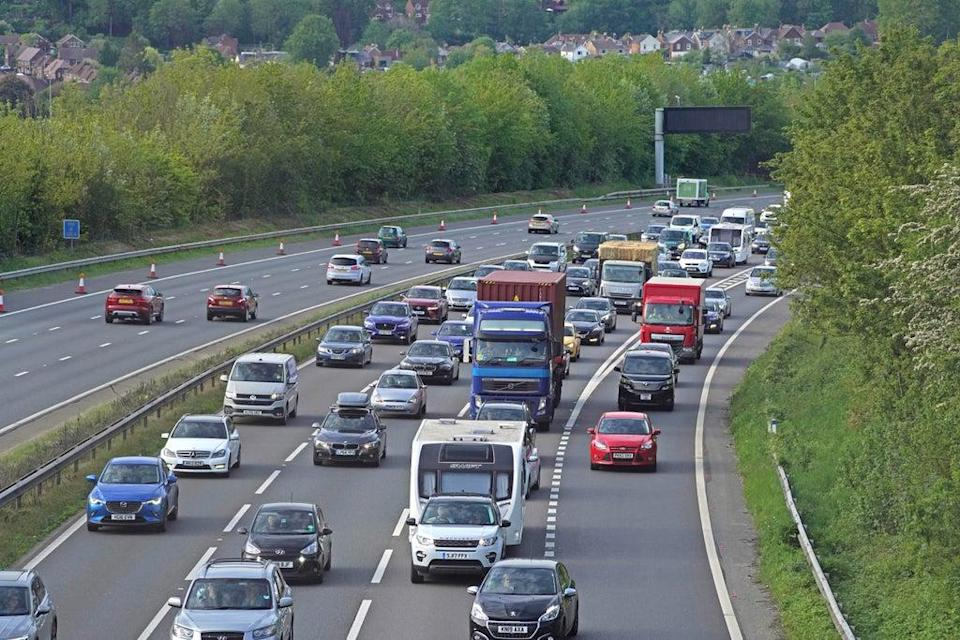 Stock image: As many as 18.4million are expected to get into their cars this Bank Holiday Monday (PA Wire)