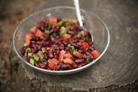 <p><b>Rajma (Red Kidney Bean) Salad:</b><br></p><p>Rich in iron, complex carbohydrates & nutrients, red kidney beans are loaded with fiber. To make this salad, soak 1 cup rajma overnight & pressure cook till soft to touch & nicely done. Drain & transfer to a mixing bowl. Add chopped onions tomatoes & cucumbers. Mix 3 tsp juice of lemon with salt (as per taste) & pinch of pepper & add to the salad mix. Drizzle a little extra virgin oil & garnish with chopped coriander.</p>