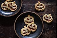 """<p>Even if you can't pull off a homemade pumpkin pie, you can definitely master these adorable hand pies.</p><p>Get the recipe from <a href=""""https://www.delish.com/cooking/recipe-ideas/recipes/a43939/mini-jack-o-lantern-pies-recipe/"""" rel=""""nofollow noopener"""" target=""""_blank"""" data-ylk=""""slk:Delish"""" class=""""link rapid-noclick-resp"""">Delish</a>.</p>"""