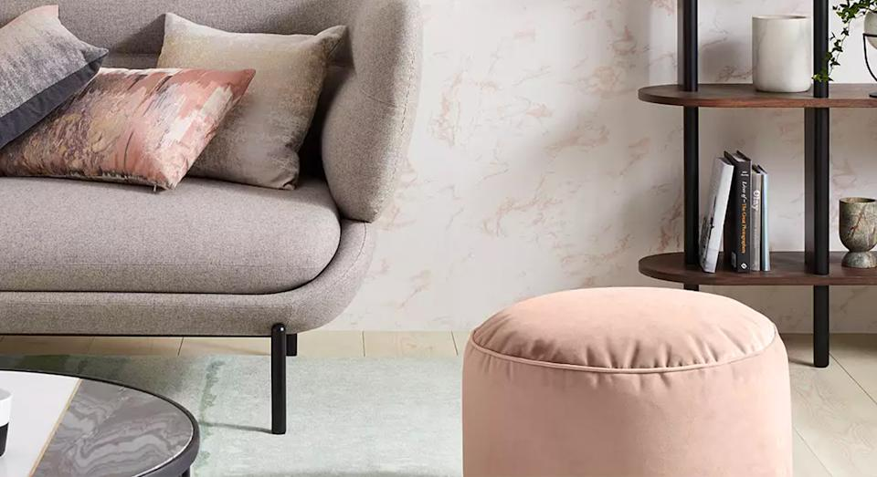 The stylish item comes in six statement colours to updade any living area. (John Lewis & Partners)