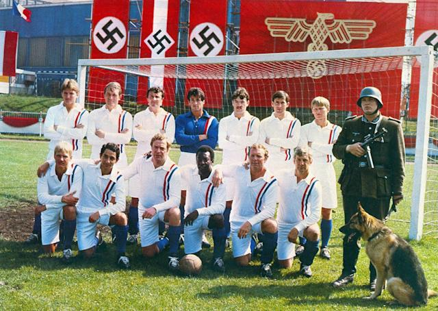 <i>Escape to Victory</i> sees Bobby Moore and Pele teaming up with Michael Caine and Sly Stallone to take on Nazis. (Paramount)