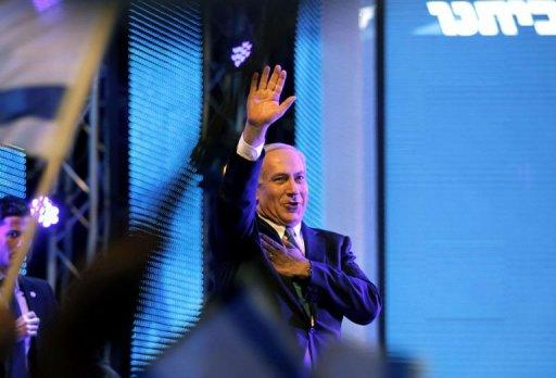 <p>Israeli Prime Minister Benjamin Netanyahu launches the Likud-Beitenu election campaign on December 25, 2012 in Jerusalem. Benjamin Netanyahu put Iran at the top of on his re-election campaign, pledging that halting Tehran's nuclear programme would be his first priority as premier.</p>