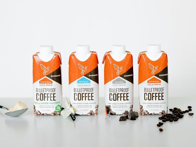 The lineup of Bulletproof coffee.  (Bulletproof Coffee)