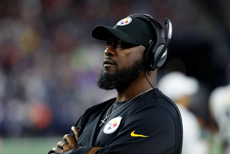 Mike Tomlin chose to kick a field goal from the 1-yard line while trailing 20-0. (Reuters)