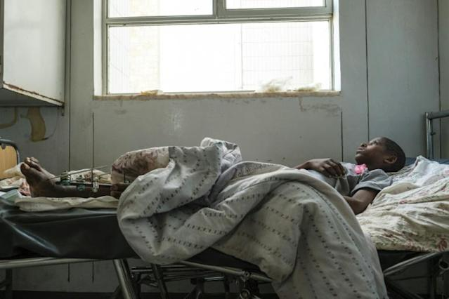 Desalegn Gebreselassie, 15, was injured during fighting in eastern Tigray, and lost a lot of blood as he had to walk with his family for three days before reaching medical help