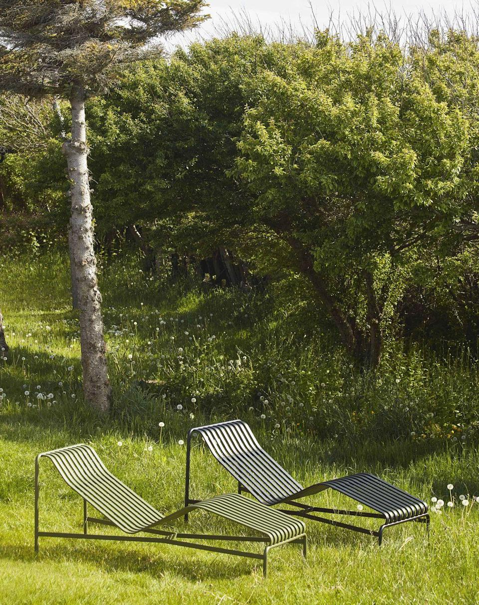 """<p>The 'Palissade' range of outdoor furniture has quickly become iconic, so the arrival of this new chaise longue (or sun lounger) is something to celebrate. Designed by Ronan and Erwan Bouroullec, its simple and graceful powder-coated steel lines look effortlessly modern. £709, <a href=""""https://www.scp.co.uk/products/palissade-chaise-longue"""" rel=""""nofollow noopener"""" target=""""_blank"""" data-ylk=""""slk:scp.co.uk"""" class=""""link rapid-noclick-resp"""">scp.co.uk</a></p>"""