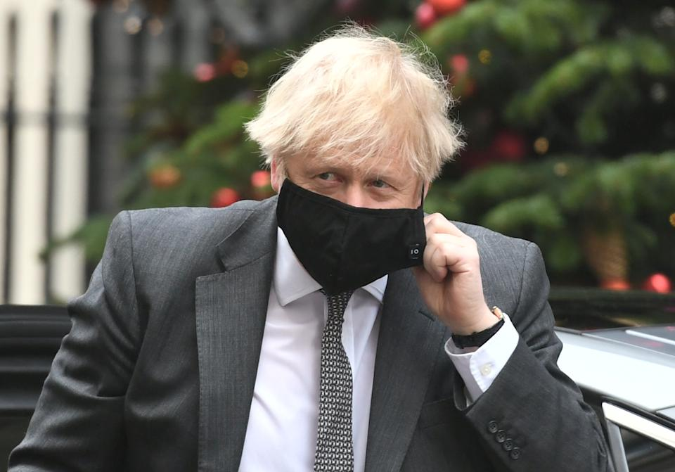 Prime Minister Boris Johnson arriving in Downing Street, London, after attending the debate in the House of Commons on the EU (Future Relationship) Bill. (Photo by Dominic Lipinksi/PA Images via Getty Images)