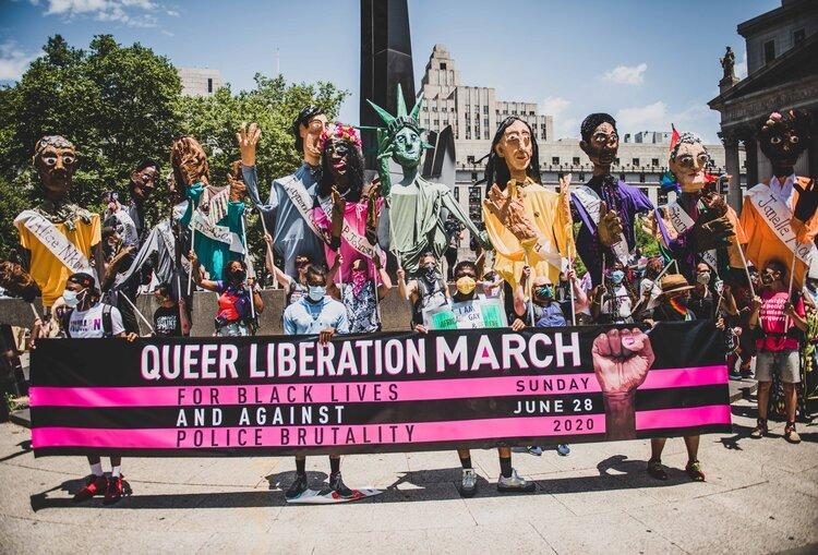 Queer Liberation March for Black Lives and Against Police Brutality Photos by Leandro Justen  www.instagram.com/leandrojusten