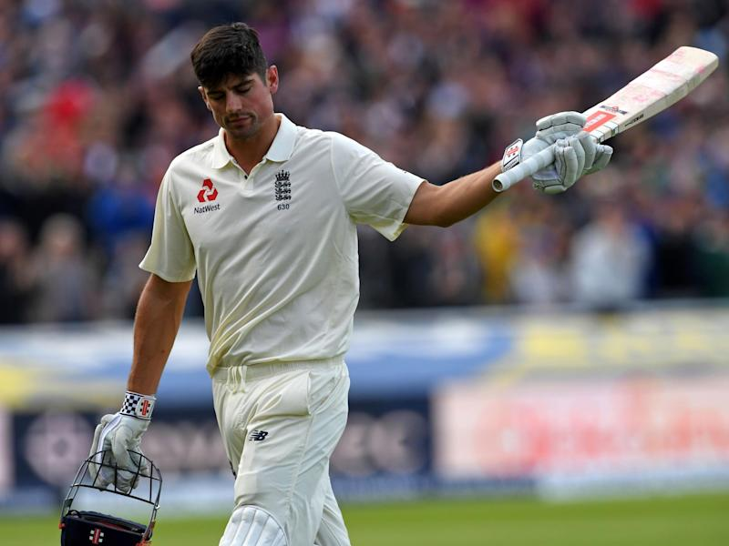 Alastair Cook falls just short of 250 as England are thwarted by the rain at Edgbaston