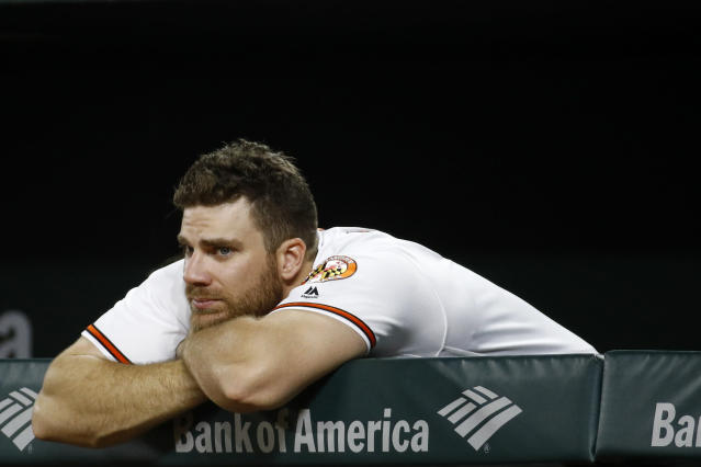 "<a class=""link rapid-noclick-resp"" href=""/mlb/players/8285/"" data-ylk=""slk:Chris Davis"">Chris Davis</a> has just four home runs in 229 plate appearances this season. (AP)"