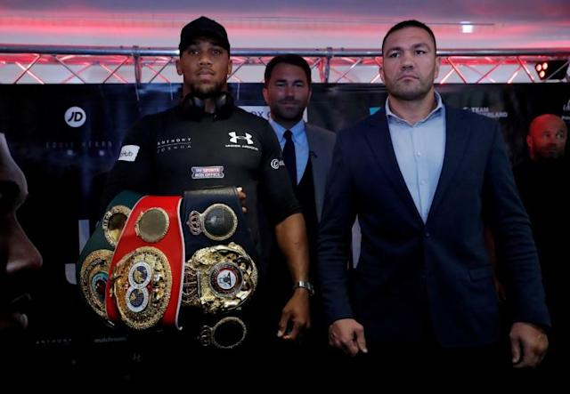 FILE PHOTO: Anthony Joshua and Kubrat Pulev Press Conference