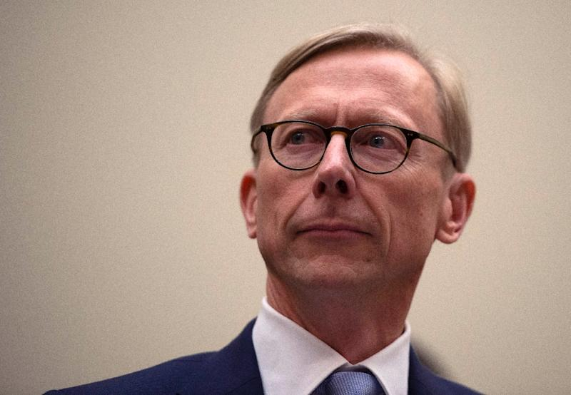 Brian Hook, the US special representative for Iran, tells the House Foreign Affairs subcommittee on the Middle East that any military action taken by the US would be lawful (AFP Photo/ANDREW CABALLERO-REYNOLDS)