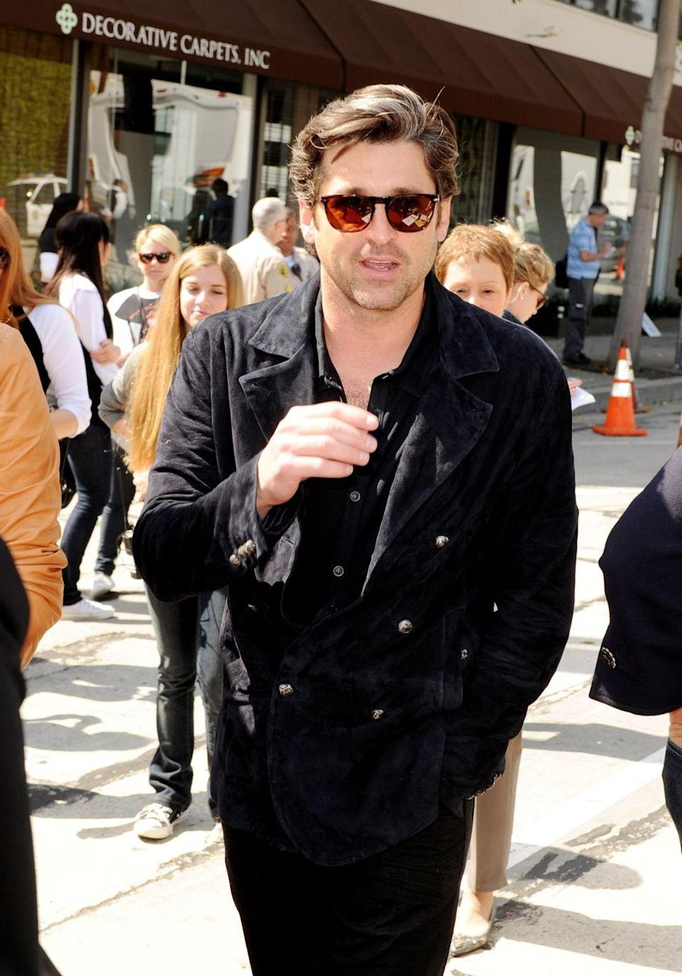 <p>Patrick Dempsey rolling up to a John Varvatos event in all John Varvatos is unmatched. Varvatos' penchant for cool textures on a dark color palette is very Dempsey's vibes. </p>